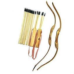 Adventure Awaits! - 2-Pack Handmade Wooden Bow and Arrow Set