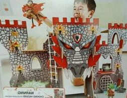 Hape Vikings Castle Doll House Play Set| Wooden Dungeon Drag