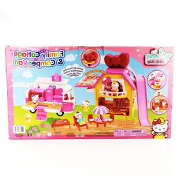 Hello Kitty Playset Family Cottage & Camper Van House Vehicl