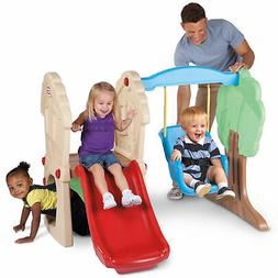 Little Tikes Hide and Seek Climber and Swing Set Brown Tan C