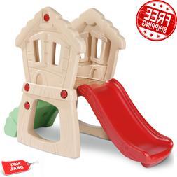Hide and Seek Climber Children Toddler Play Set Slide Indoor