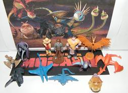 How To Train Your Dragon Figure Set of 12 Mini Dragons and C