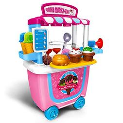 Gizmovine Ice Cream Cart Play Set,  Pretend Food Play Set fo