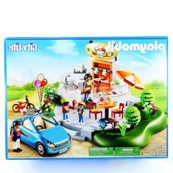 Playmobil Ice Cream Parlor Park Car 5644 City Life Playset T