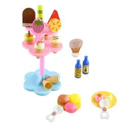 Ice Cream Play Set Desserts Tower Stand 22pcs Play Food Toy