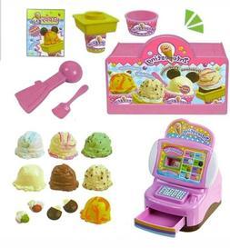 Ice Cream Shop Ready-to-Play Play Set 13 Piece Pretend Play