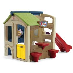 Indoor/Outdoor Backyard Playground Activity Playhouse w/ Sli