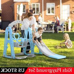 Indoor Outdoor Playground Slide Set Play Slide Kids Backyard