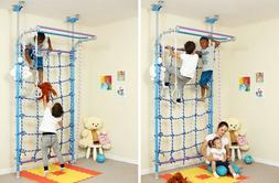 Indoor Playground - Jungle Gym Play Set, Monkey Bars, Swing,