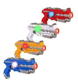 Laser Tag Guns Set – 4 Pack Multiplayer Laser Tag Gun, No