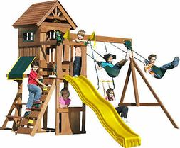 Swing-N-Slide WS 8328 Jamboree Fort Play Set with Two Swings