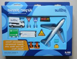 JET BLUE AIRWAYS AIRPLANE AIRPORT PLAYSET TRUCK SIGNS ETC DA