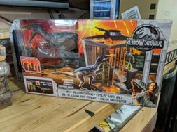 Jurassic World Lava Surge Playset Baryonyx Slime Rare