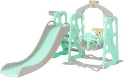 Kid 3 in 1 Play & Swing Set Slide Climber Playset Toddler To