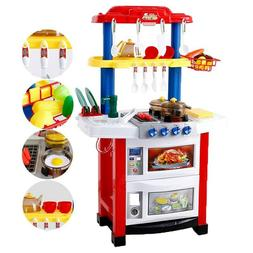 Kid Kitchen Playset For Girls Pretend Play Toy Cooking Set L