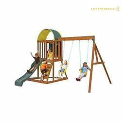 Big Backyard KidKraft Andorra Cedar Wood Swing Set / Playset