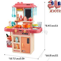 Kids 42PCS Kitchen Playset Pretend Play Toy Cooking Set With