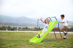 Kids 6ft Outdoor Playground Slide: Freestanding Play Equipme