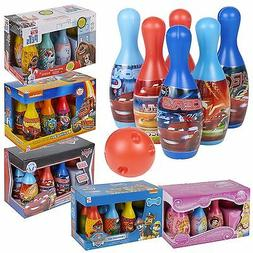 Kids Disney Bowling Set Skittles Pins Toy Indoor Outdoor Bal