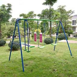 Kids Child Garden Swing Set Double Swing & Glider Children T