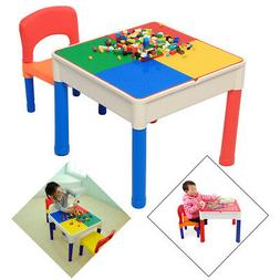 Kids Child Table & Chair Play Set Tutors Activity Furniture
