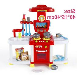 Mini Kids Children Pretend Kitchen Play Set Toy Food Cooking