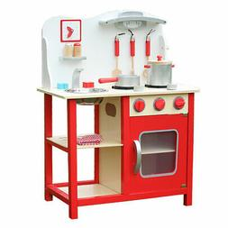 Kids Cooking Pretend Play Toy Children Playset Wooden Kitche