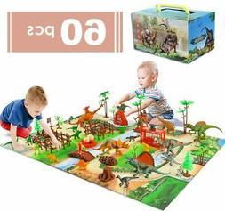 Kids Dinosaurs Figures Playset Toys Boys Girls Toddler Activ