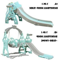 Kids Indoor/Outdoor Playground Hide & Seek Climber Swing and