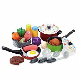 Kids Kitchen Food Accessories Cook Pretend Play Toy Cooking