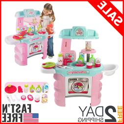 Kids Kitchen Nursery Play Set, Pretend Play Table for Toddle