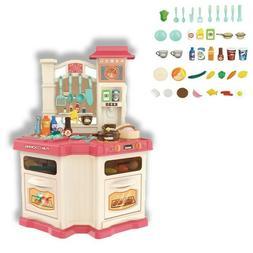 Kids Kitchen Play Set Pretend Baker Toy Cooking Playset Girl