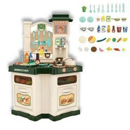 Kids Kitchen Play Set Pretend Baker Toy Cooking Playset Girl