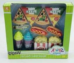 Kids Kitchen Toy Play Set Food Pretend Pizza Hotdogs Popcorn