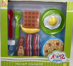 Kids Kitchen Toy Play Set Food Pretend Bacon Eggs Pancake Gi