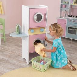 Kids Laundry Play Set Washing Machine Child Toy Fun Gift Clo