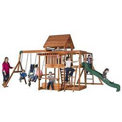Backyard Discovery Kids Outdoor Playground Swing Set Slide P
