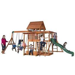 Backyard Discovery Kids Outdoor Playground Swing Set Slide P