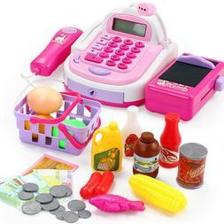 Kids Plastic Cash Register Pretend & Play Early Educational