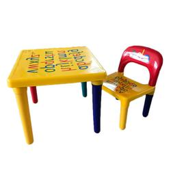 Kids Plastic Table and Chair Set Furniture Activity Toddler