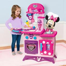 Kids Pretend Play Kitchen Disney Minnie Mouse 12 Piece Gourm