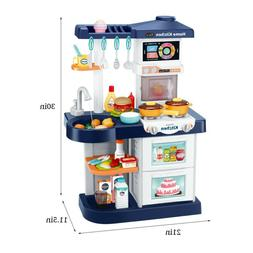 For Kids Pretend Play Toy Kitchen Playset Play Water Sounds