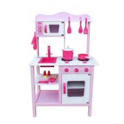 Kids Pretend Play Wooden Kitchen Set For Girl Cooking Food P