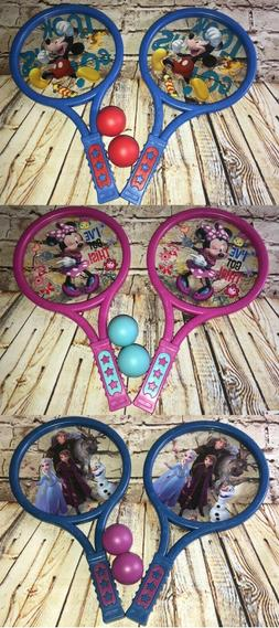Kids Disney RACKET BALL SET 2 Paddles + 2 Balls Minnie Mouse