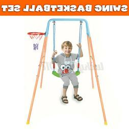 Kids Swing Set Metal Swingset Metal Playground Playset Outdo