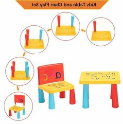 Kids Table and Chair Play Set Child Toddler Toy Activity Fur