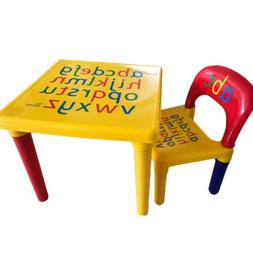 Kids Table and Chair Set Plastic Furniture Activity Toddler
