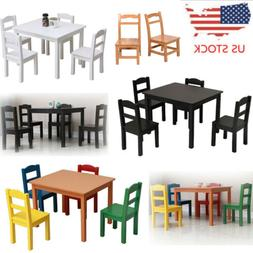 Kids Table And Chair Set Play Desk Wooden Toddler Furniture