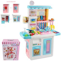Kitchen Chef Pretend Play Set With Running Water For Girl Ki