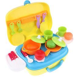 Kitchen Cooking Set Vegetable Playset Toy for Kids Toddler P